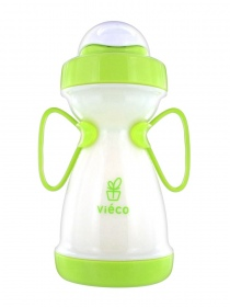 Vieco  - Tasse d'apprentissage a paille biobased greeny - 330ml 8 mois+