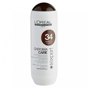 Illustration CHROMA CARE - MARRON CHAUD 34 -  L'OREAL 150ML