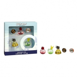 Angry Birds - Set 3 Eaux de Toilettes Minis 5 ml + 2 Badges Angry Birds