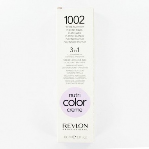Illustration NUTRI COLOR CRÈME PLATINE BLANC 1002 REVLON 100ML