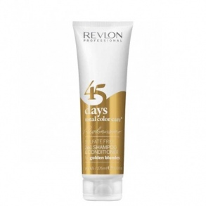 Illustration SHAMPOOING  CONDITIONNEUR 45 DAYS TOTAL COLOR CARE  FOR GOLDEN BLONDES REVLON PROFESSIONAL 275ML