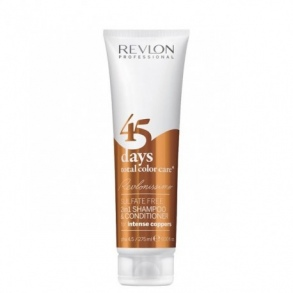 Illustration SHAMPOOING  CONDITIONNEUR 45 DAYS TOTAL COLOR CARE  FOR INTENSE COPPERS REVLON PROFESSIONAL 275ML
