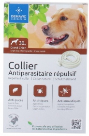 Illustration Collier insectifuge antiparasitaire repulsif grand chien de 10 à 30KG