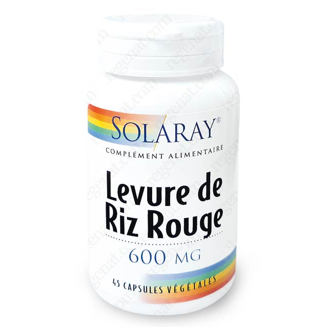 levure de riz rouge 600mg solaray de solaray sur 1001pharmacies dans sant. Black Bedroom Furniture Sets. Home Design Ideas