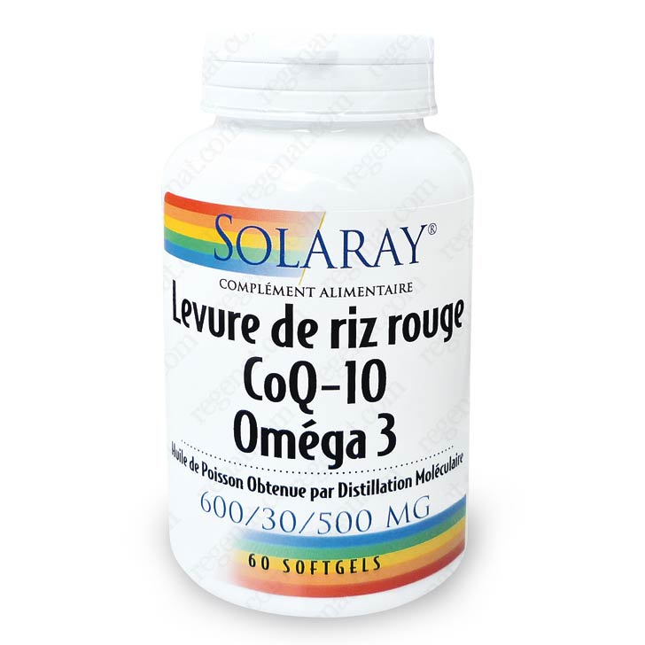 levure de riz rouge 600mg coq10 30mg om ga 3 solaray de solaray sur 1001pharmacies dans sant. Black Bedroom Furniture Sets. Home Design Ideas
