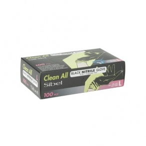 Clean All - Gants Nitrile AQL 1,5 Large Noir