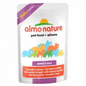 Almo Nature - ALMO NATURE Daily Menu Adulte Poulet et Saumon - Lot 6 x 70g