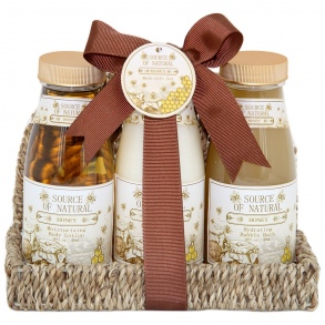 Illustration Coffret de Bain - Honey - Miel - 3 Pcs