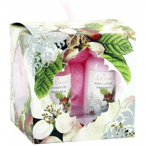 Illustration Coffret de Bain - Rose - 3 Pcs