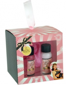 Illustration Coffret de Bain - Retro Beauty - Rose - 3 Pcs