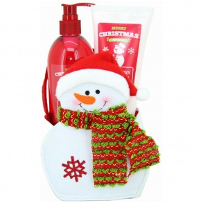 Illustration Coffret de Bain Bonhomme de Neige - Merry Christmas - Mûre - 2 Pcs