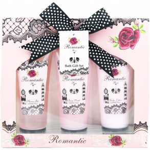 Illustration Coffret de Bain - Romantic Rose - 3 Pcs