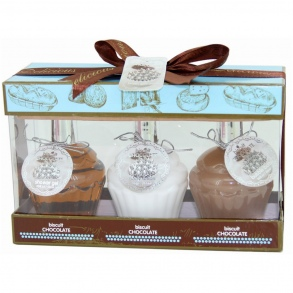 Illustration Set de Bain - Biscuit & Chocolat - 3 Pcs