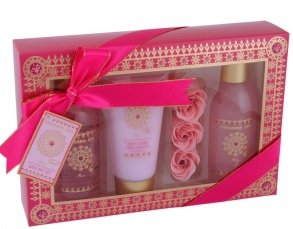Illustration Coffret de Bain - Mandara Spa - Rose - 6 Pcs