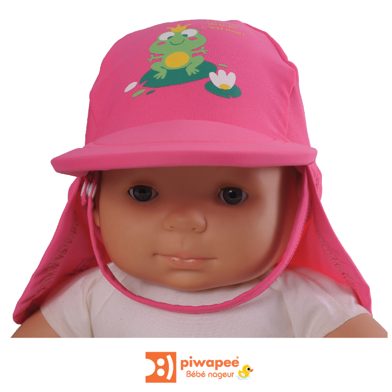 Illustration CASQUETTE ANTI UV UPF50+  RAINETTE ROSE 6-12M TT47
