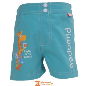Illustration SHORT COUCHE BEBE  GIRAFE VERT EMERAUDE 14-17KG
