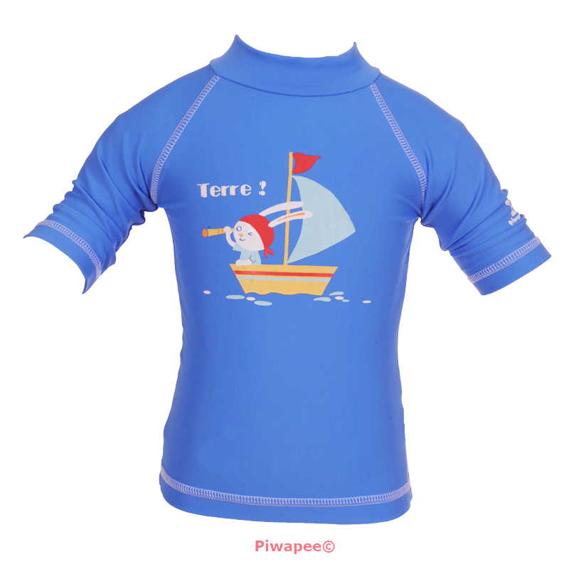 Illustration TOP ANTI UV UPF50+  LAPIN BLEU MARINA 24-36M