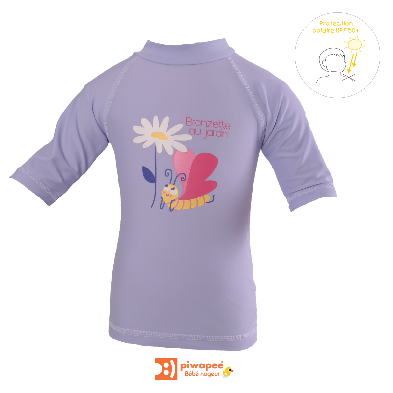 Illustration TOP ANTI UV UPF50+  PAPILLON LAVANDE 24-36M
