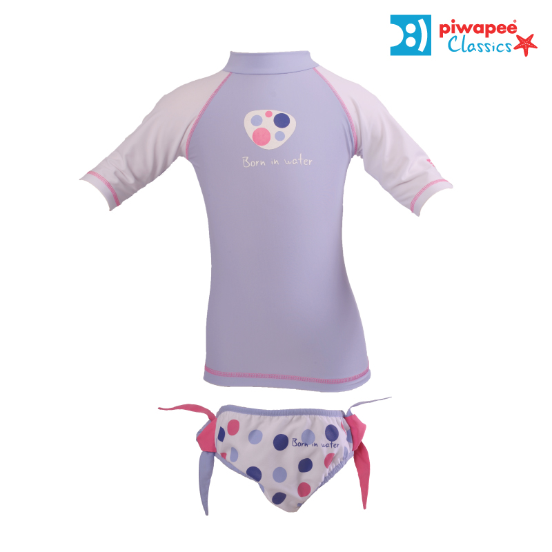 Illustration ENSEMBLE TOP ANTI UV UPF50+ ET MAILLOT  BUBBLEGUM PARME  6-12M