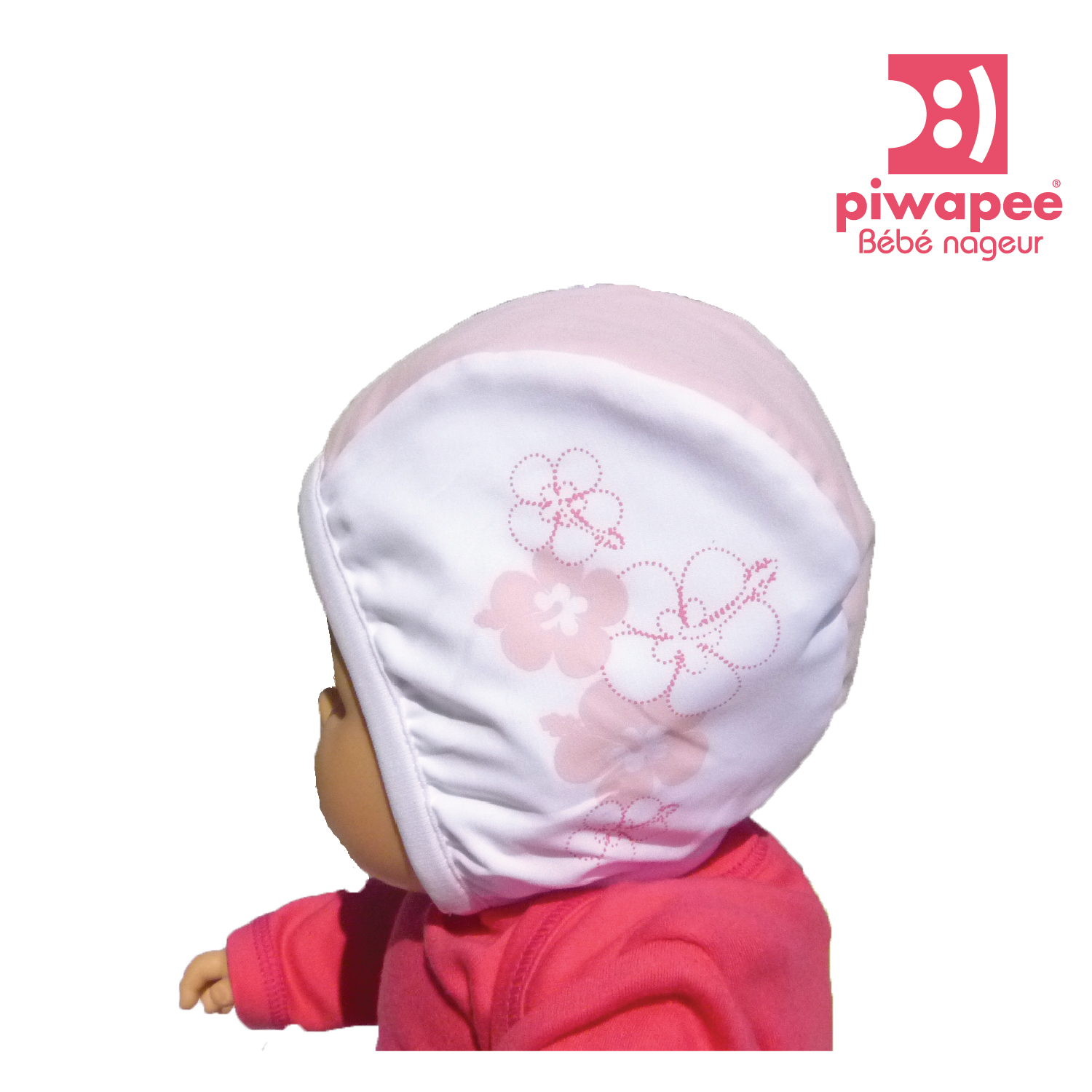 Illustration BONNET DE BAIN BEBE  VAHINE ROSE 24-48 M TT 51