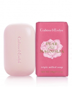 Illustration Pear and Pink Magnolia Savon 100g