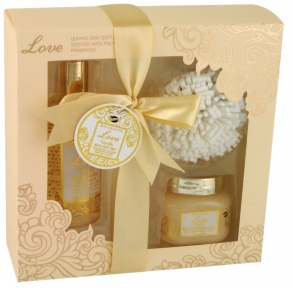 Illustration Coffret de Bain - Love Vanilla - 3 Pcs
