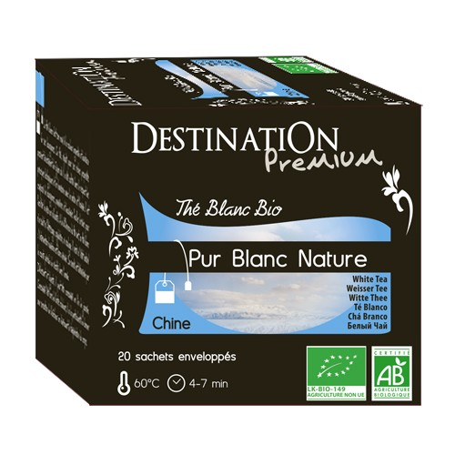 Destination Premium - Thé Blanc Nature - Chine - 20x2g
