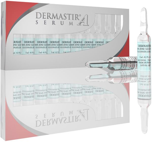 Illustration DERMASTIR® Ampoules Zinc Gluconate