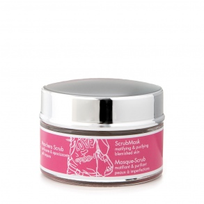 Illustration Masque Matifiant et Purifiant pour le visage Scrub Mask