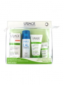 Uriage - Hyséac Kit soin Global 3-regul + 40ml - Gel 50ml + Masque 15ml + Eau thermale 50ml