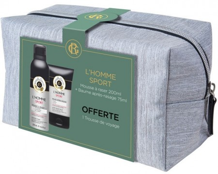 Illustration Coffret Trousse L'Homme Sport - baume 75ml + mousse à raser 200ml