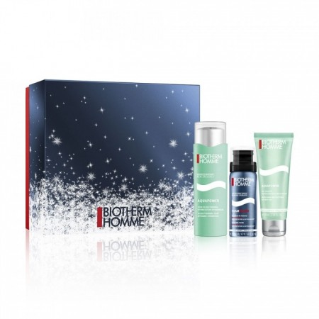 Illustration Coffret Hydratation Aquapower - soin hydratant 75ml + gel douche 75ml + mousse rasage 50ml