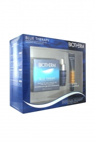 Illustration Coffret Blue Therapy - crème peau normale mixte 50ml + sérum réparation 7ml + sérum-in-oil nuit 10ml