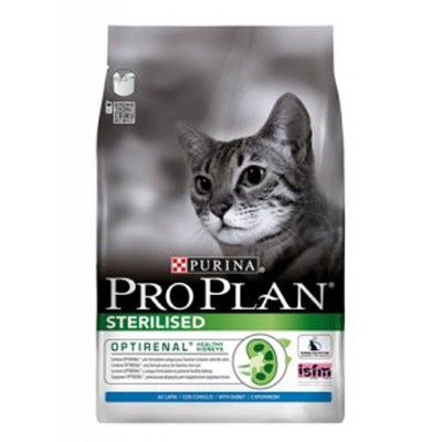 Illustration Pro Plan Cat Sterilised Lapin 3 kg Croquettes chat OPTIRENAL