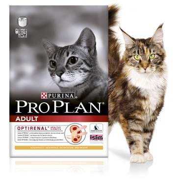 Illustration Pro Plan Cat Adult Poulet 3 kg Croquettes chat OPTIRENAL