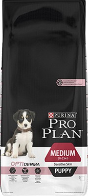 Illustration Pro Plan Dog Medium Puppy Sensitive Skin 3 kg Croquettes chiot OPTIDERMA