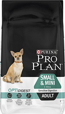 Illustration Pro Plan Dog Small & Mini Adult Sensitive Digestion 3 kg Croquettes chien OPTIDIGEST