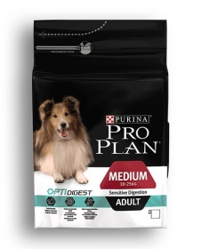 Illustration Pro Plan Dog Medium Sensitive Digestion Poulet 7 kg Croquettes chien OPTIDIGEST