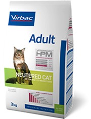 Illustration Virbac Veterinary HPM Adult Neutered Cat - Pour chat stérilisé - Sac 3 kg
