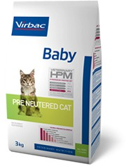 Illustration Virbac Veterinary HPM Baby Pre Neutered Cat - pour chat - Sac 3 kg