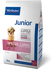 Illustration Virbac Veterinary HPM Junior Special Large Dog - Pour chiot de grande race - Sac 12 kg