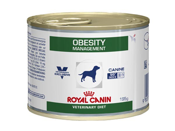 Illustration Aliment humide Royal Canin Veterinary Diet Dog Obesity 12 x 195 g pour chien