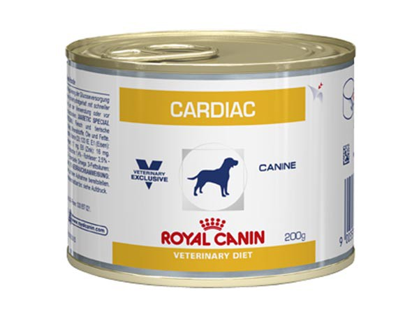 Illustration Aliment humide Royal Canin Veterinary Diet Dog Cardiac 12 x 200 g pour chien cardiaque