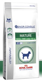 Illustration Croquettes Royal Canin Vet Care Nutrition Mature Small Dog sac 1.5 kg pour chien