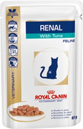 Royal Canin - Croquettes Royal Canin Veterinary Diet Cat Renal Thon Sachet 12 x 85 g pour chat