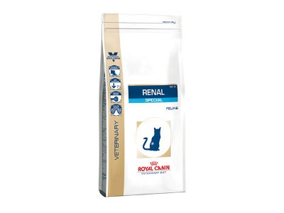 Royal Canin - Croquettes Royal Canin Veterinary Diet Cat Renal Special RSF26 sac 500 g pour chat