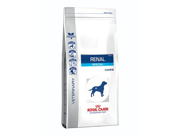 Illustration Croquettes Royal Canin Veterinary Diet Dog Renal Special sac 2 kg pour chien