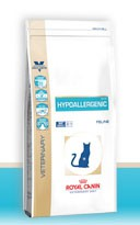 Illustration Croquettes Royal Canin Veterinary Diet Cat Hypoallergenic DR25 sac 500 g pour chat