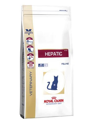 Illustration Croquettes Royal Canin Veterinary Diet Cat Hepatic HF26 sac 2 kg pour chat