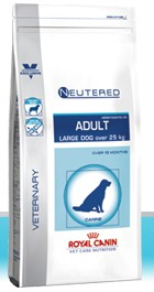 Illustration Croquettes Royal Canin Vet Care Nutrition Neutered Adult Large Dog sac 1.5 kg pour chien